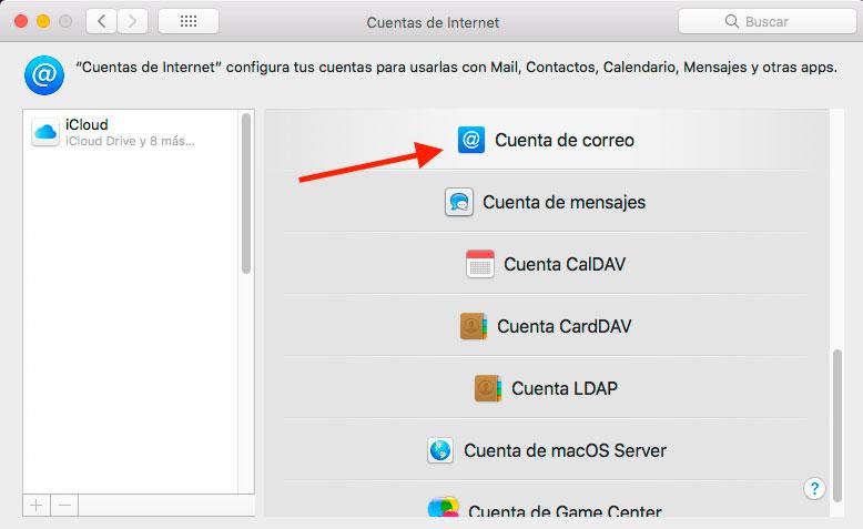 Configurar cliente de correo Apple Mail
