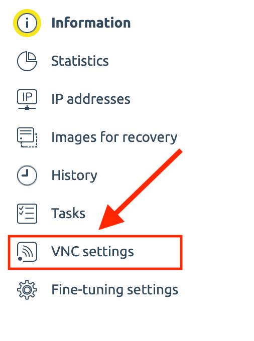 Conectarse por VNC